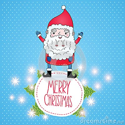 Cute cartoon christmas santa - photo#28