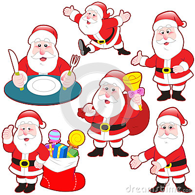 Cute cartoon Santa Claus collection