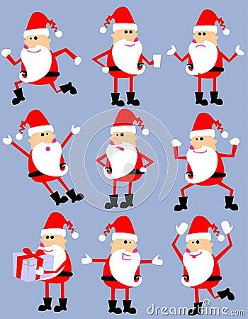Cute cartoon santa set