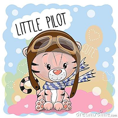 Cute cartoon Tiger Vector Illustration