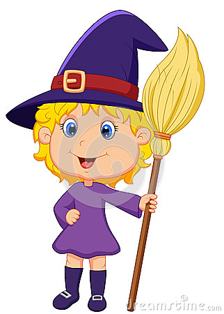 Cute cartoon witch