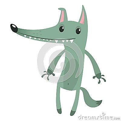 Free Cute Cartoon Wolf Character Royalty Free Stock Photos - 144807558