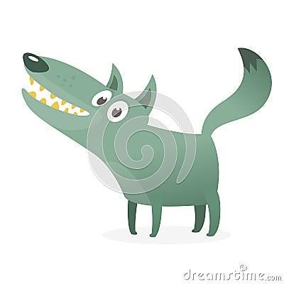 Free Cute Cartoon Wolf Character Stock Image - 144807661