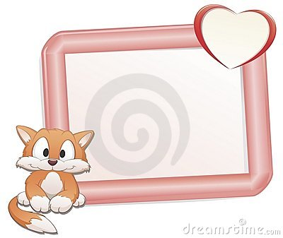 cat with frame stock photos image 25091093