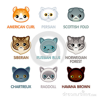 Free Cute Cat Icons, Set II Royalty Free Stock Image - 71088996