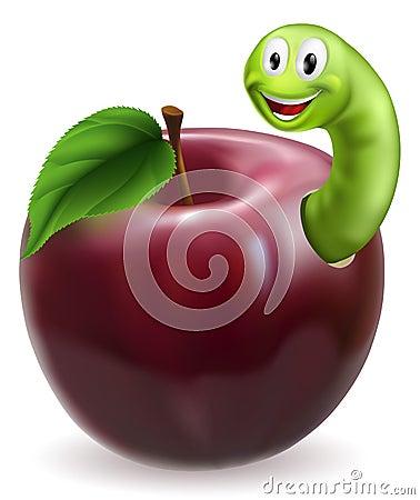 Cute caterpillar apple
