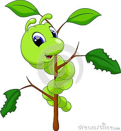 Free Cute Caterpillar Cartoon Royalty Free Stock Image - 45147026
