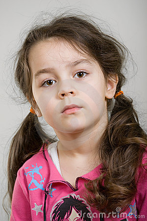 Cute caucasian girl.