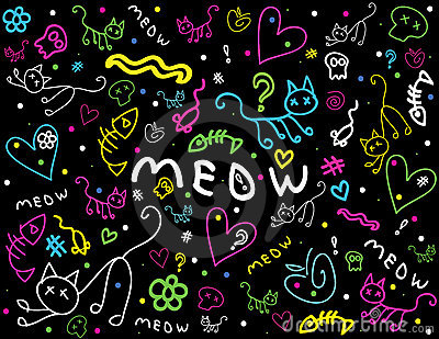 Cute Chalkboard Style Doodles Stock Images - Image: 23193504