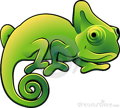 Cute Chameleon Vector Illustra