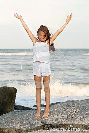 Free Cute Cheerful Little Girl Stock Image - 27859231