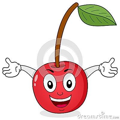 Cute Cherry Cartoon Character