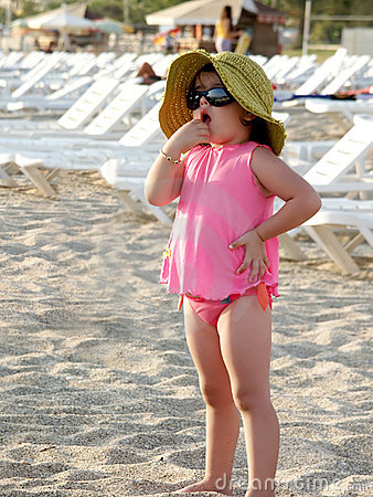 Cute child on Antalya beach