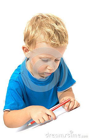 Cute child drawing