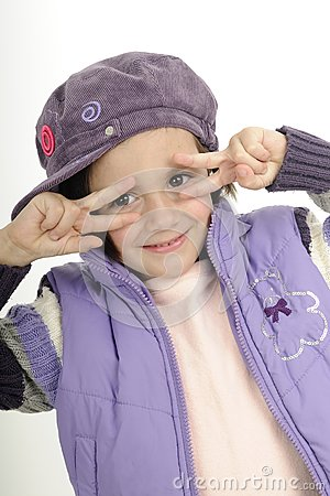 Cute child gesturing