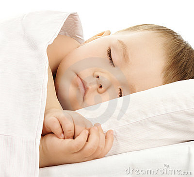 Free Cute Child Is Sleeping In Bed Stock Photography - 7864232