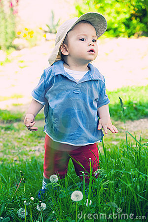 Cute child outdoors