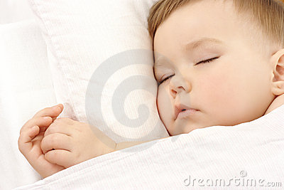 Cute child is sleeping