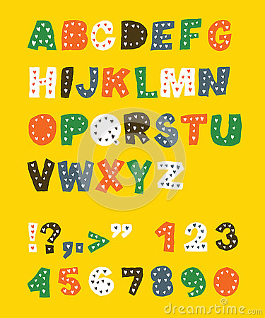 Cute childish alphabet.