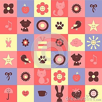 Cute childish seamless pattern