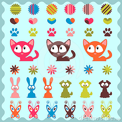Cute childish stickers