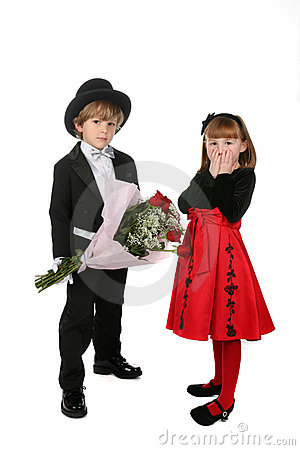 Cute children in formal clothes