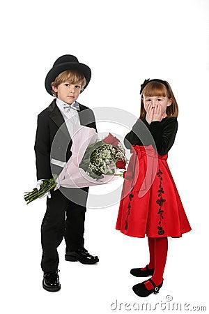 Cute children in formal clothes