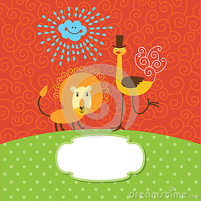 Cute children greeting card