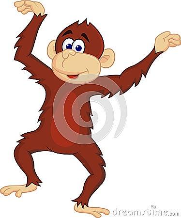 Cute chimpanzee dancing