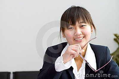 Cute chinese businesswoman