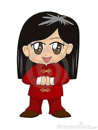 Cute Chinese Cartoon Girl