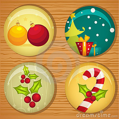 Cute Christmas badges