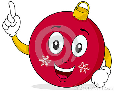 Cute Christmas Ball Character