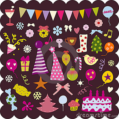 Free Cute Christmas Elements Stock Images - 8162124