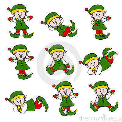 Cute Christmas Elf Set