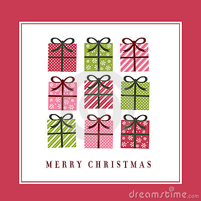 Free Cute Christmas Greeting Card Stock Photos - 12179163