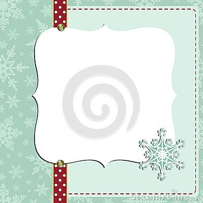 Cute christmas new Year postcard template