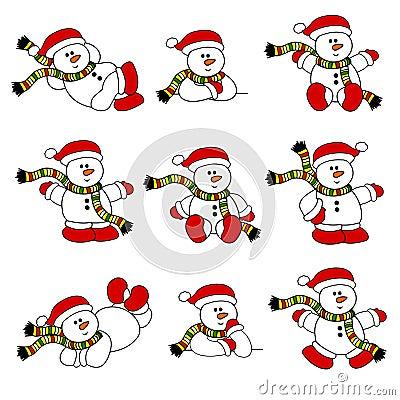 Cute Christmas Snowman Set