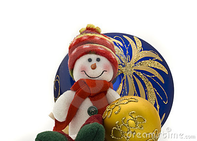 Cute Christmas toy with colorful New Year Balls