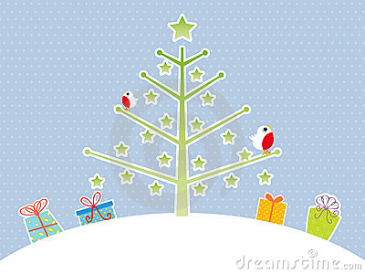 Cute Christmas tree background