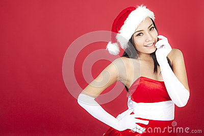 Cute christmas woman