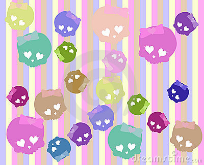 Cute ckull background