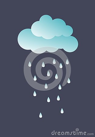 Cute cloud. vector illustration. Vector Illustration