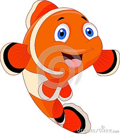 Free Cute Clown Fish Cartoon Stock Photo - 33235700