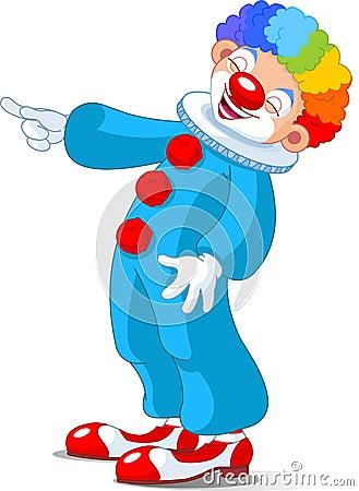 Cute Clown laughing