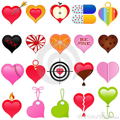 A cute collection of colorful heart for Valentine