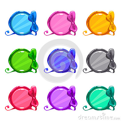 Free Cute Colorful Cartoon Round Buttons Stock Image - 75123441