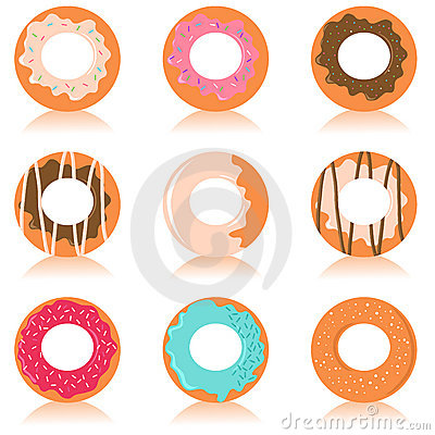 Cute colorful donuts