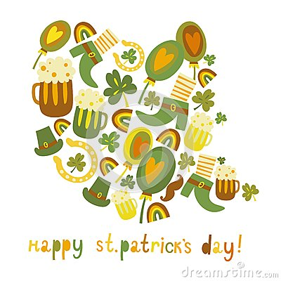 Cute colorful St.Patrick s day background