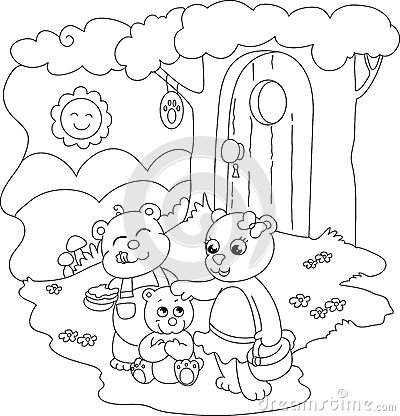 Cute coloring bears
